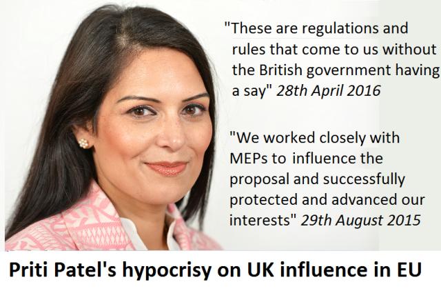 Priti Patels hypocrisy