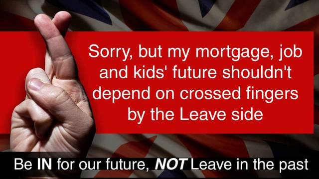 The Future mesn't depend on Leavers having their fingers crossed