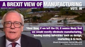 A Brexit view of UK manufacturing
